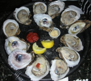 Gulf oysters, plump and beautiful, but tout sans gout