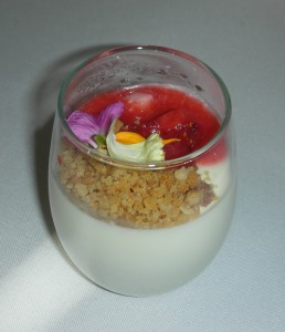 Chef Jason Bangerter of the Tiff Lightbox made our fab little dessert using the Grand Champion ricotta. It was divine