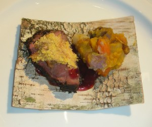Bronze - wild elk and cattail cornbread from Chef Laurie Wall
