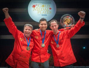On the podium in Regina - Silver: Leo Pantel; Gold: Milton Rebello; Bronze: Geoffrey Caswell-Murphy