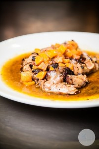 roasted foie gras with persimmon sauce