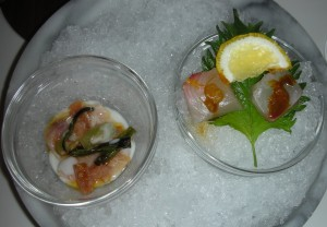 Hamachi and madai flown in from Tokyo